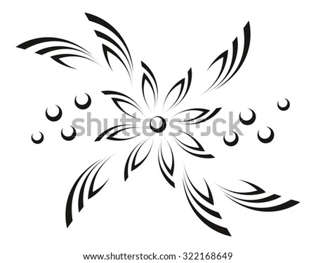 Black cutout symbols of flowers download free vector art stock abstract flower black graphic pictogram isolated on white background vector mightylinksfo