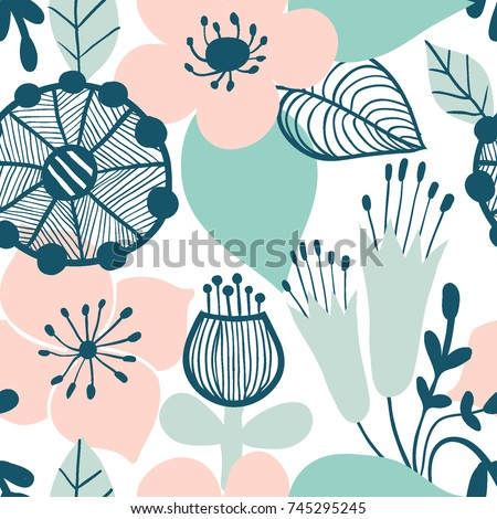 abstract flower graphic design