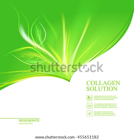 abstract flower leaf in form of