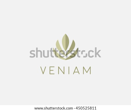 abstract flower lotus logo icon