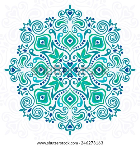 Abstract Flower Mandala Decorative element for design Vector illustration