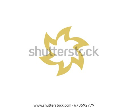 abstract flower ornament logo ii