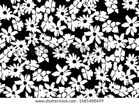 Abstract flower pattern seamless.  Stylish vector design for fabric, wallpaper, wrapping, background. Stock photo ©