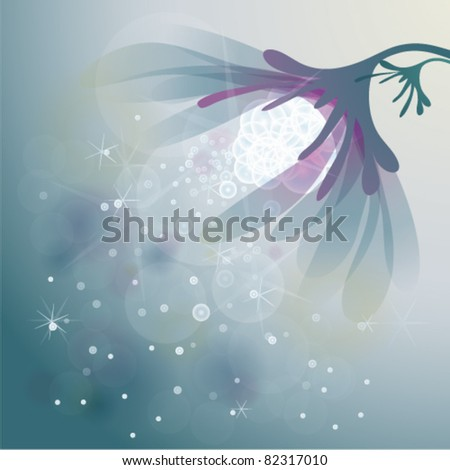 abstract flower   snow