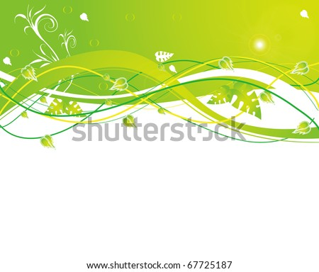 abstract flower spring illustration vector