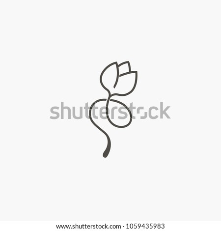 abstract flower store logo icon