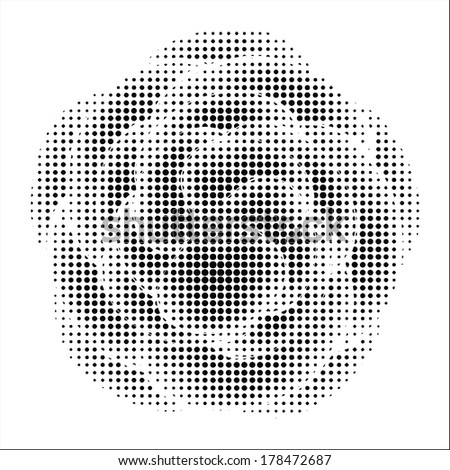 abstract flower with halftone