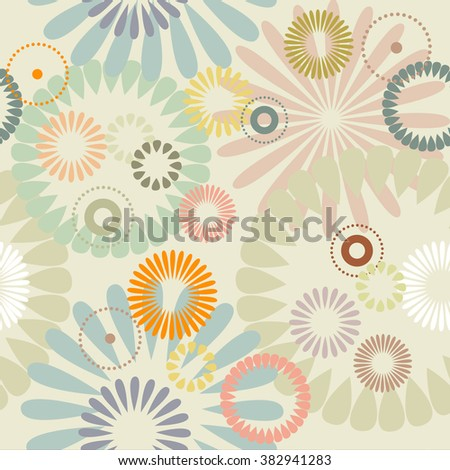 abstract flowers  a seamless