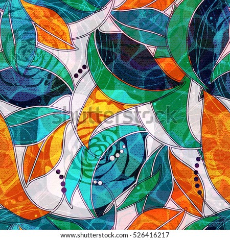 abstract flowers seamless