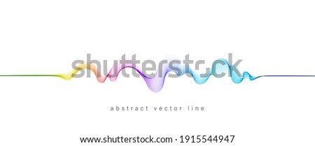 Abstract flowing wavy lines. Colorful dynamic wave. Vector design element for concept of music, party, technology, modern.