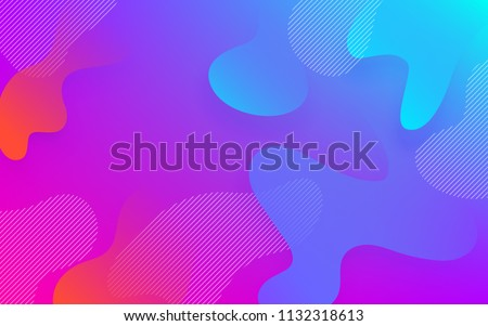 Abstract fluid color pattern of neon color liquid gradient background with modern geometric dynamic motion style
