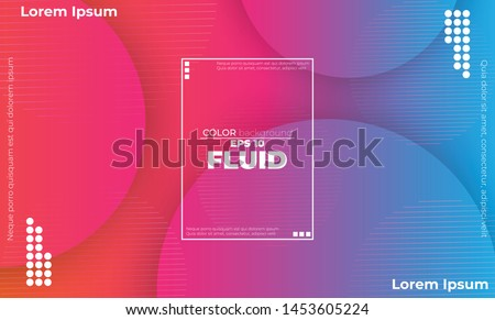 Abstract fluid color pattern of neon color liquid gradient background with modern geometric dynamic motion style Suitable For Wallpaper, Banner, Background, Card, Book Illustration, landing page #1453605224
