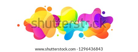 Abstract Fluid Gradient Badge Template, Geometric Background, Vector Illustration, Modern Background. Foto d'archivio ©