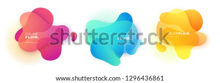 Abstract Fluid Gradient Badge Template, Geometric Background, Vector Illustration, Modern Background. ストックフォト ©
