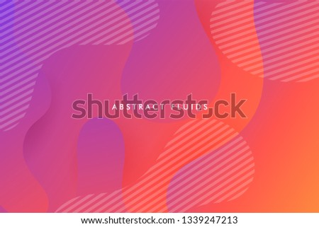 Abstract fluids background composition with vibrant color and dynamic shape. Trendy Background template.