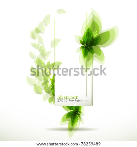 Abstract fly leaves background