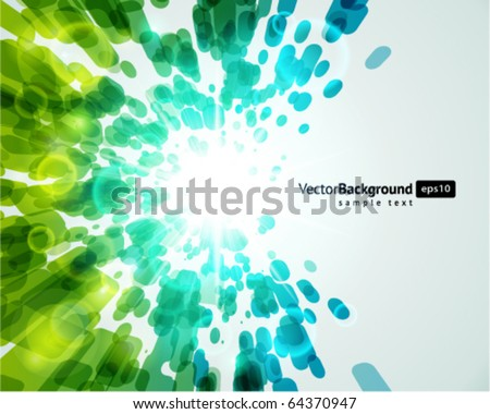 Abstract fly lines with bokeh vector background
