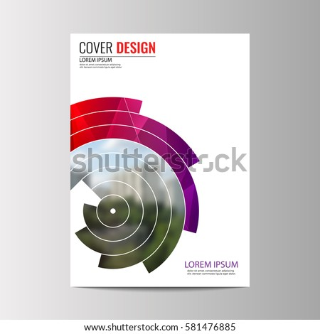 Abstract flyer design background. Brochure template.