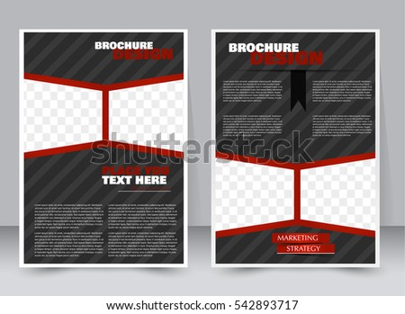 red and black business brochure flyer design template in size a4