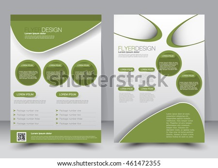 Abstract flyer design background. Brochure template. Can be used for magazine cover, business