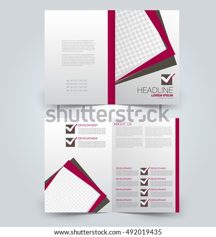 Abstract flyer design background. Brochure template. Can be used for magazine cover, business mockup, education, presentation, report. Red and brown color. #492019435