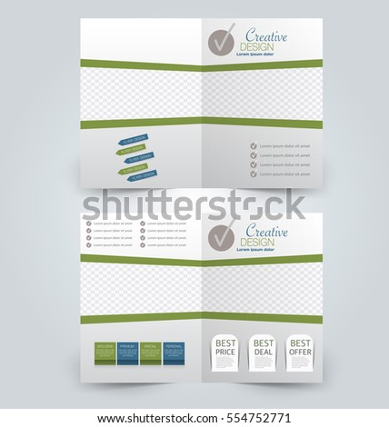 Abstract flyer design background. Brochure template. Can be used for magazine cover, business mockup, education, presentation, report.  Green and blue color #554752771