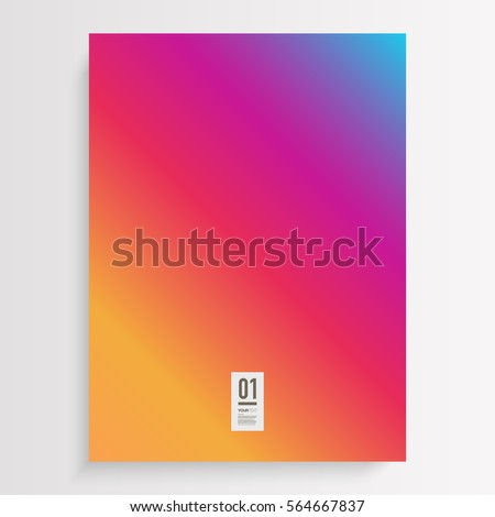 Shutterstock Abstract flyer design with colorful gradient background and your text  Eps 10 stock vector illustration