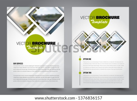 Abstract flyer template. Business brochure design. For education, school, business, presentation. Green color. Vector illustration.