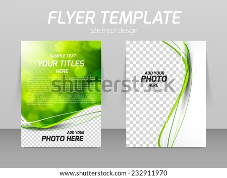 Green Brochure Template Design  Download Free Vector Art Stock