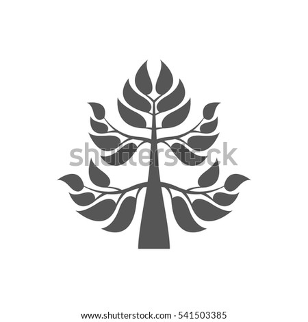 Abstract foliate element.  Deciduous ornament. Pattern.