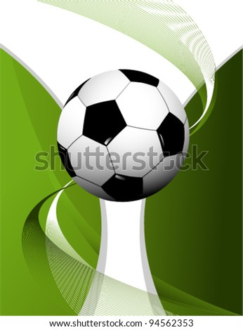 Abstract football background with cup #94562353