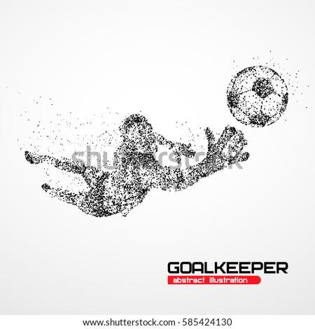 abstract football goalkeeper