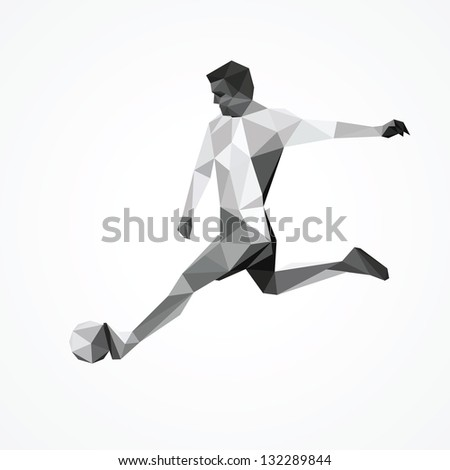 Football Player Logo Abstract Football Player Kick