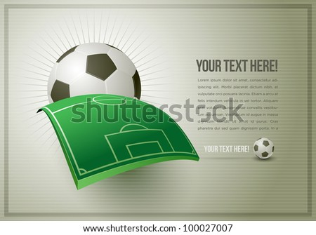 Abstract football (soccer) design template. All elements are layered and grouped in vector file. Easy editable.