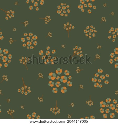 abstract forget me not motif