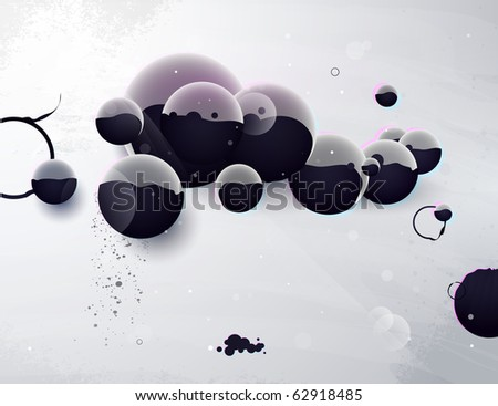 abstract form, design elements, design a fantastic - stock vector