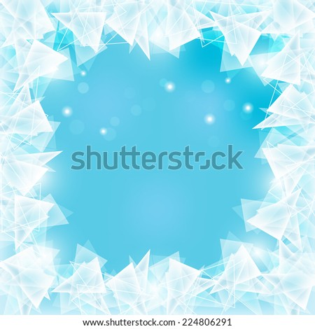 abstract frozen ice texture on
