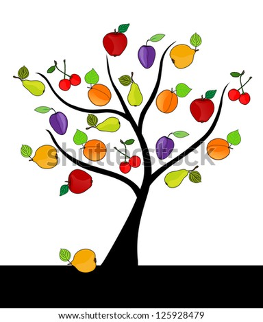 abstract fruit tree with apples