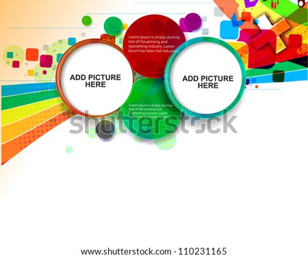 Abstract funky graphic design vector background - stock vector