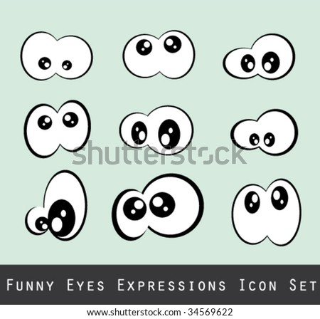 Abstract Funny Eves Expression Set