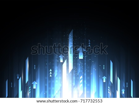 Abstract future digital speed technology concept, growth, science, energy, futuristic speed and motion blur light rays. Vector illustration