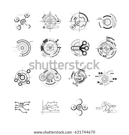 Abstract future icons,Vector