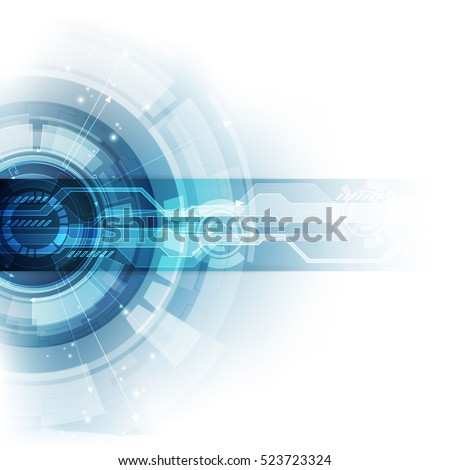 Abstract future technology concept background, vector illustration