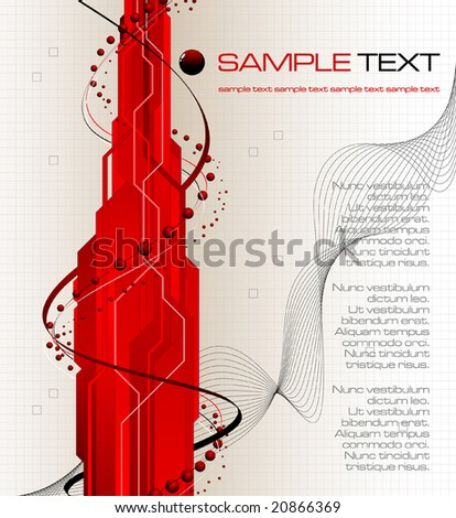abstract futuristic background - vector illustration - jpeg version in my portfolio