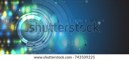 abstract futuristic circuit computer internet technology board business background
