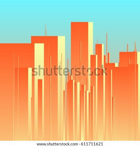 abstract futuristic city vector
