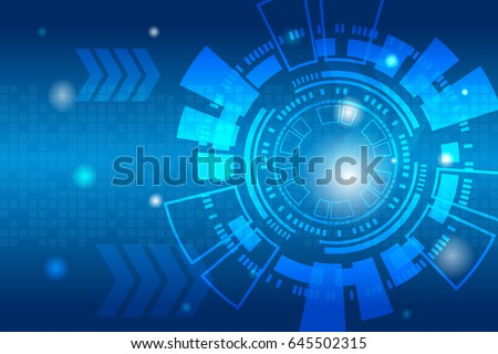 Abstract futuristic digital technology shiny background.