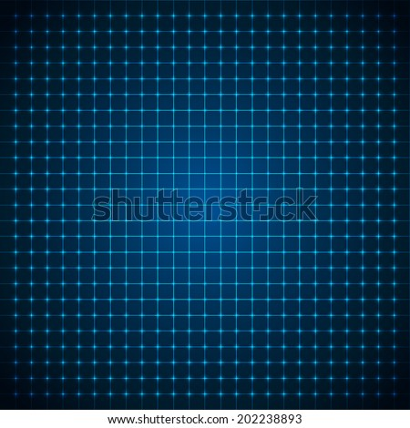 Abstract futuristic grid. Vector illustration.