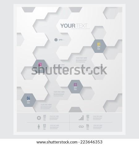abstract futuristic hexagon