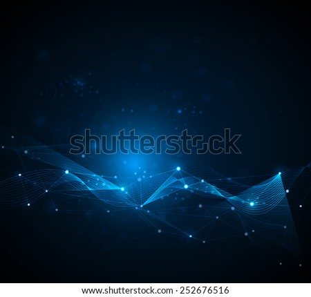 Abstract futuristic - Molecules technology background. Illustration Vector design digital  technology concept